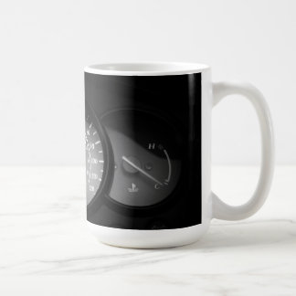 motorcycle gauges basic white mug