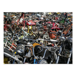 Motorcycle Graveyard- Photography Poster