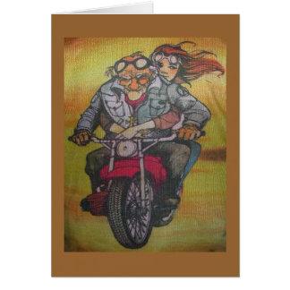 motorcycle guy greeting card