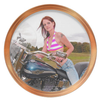 Motorcycle Hotness Dinner Plates