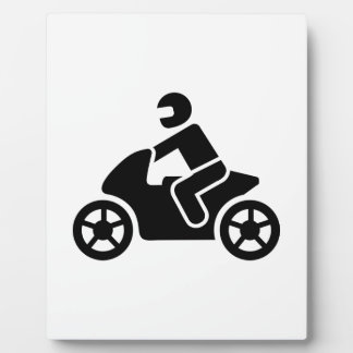 Motorcycle icon display plaque