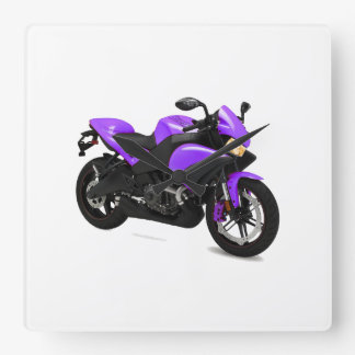Motorcycle image for Square-Wall-Clock Square Wall Clock