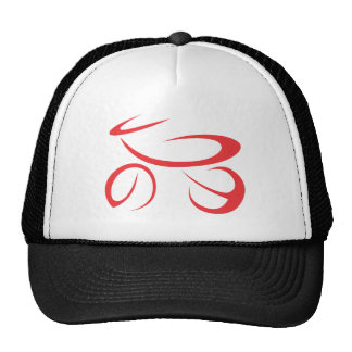 Motorcycle in Swish Drawing Style Mesh Hats