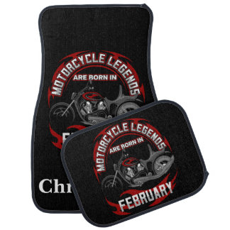 Motorcycle Legends Are Born In February Car Mat