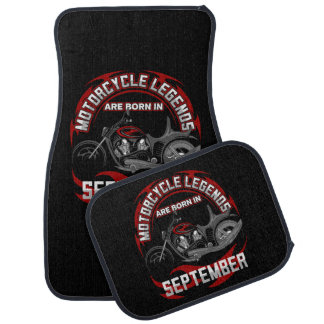 Motorcycle Legends Are Born In September Floor Mat