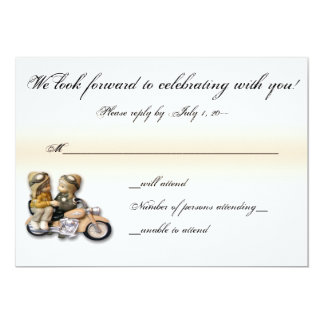 Motorcycle Love Wedding Invitation RSVP Reply Card