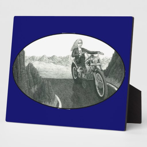 Motorcycle Mama Photo Plaques