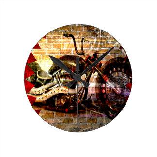 Motorcycle Mania Wall Clocks
