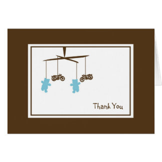 Motorcycle Mobile Thank You Note Note Card