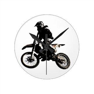 Motorcycle Motocross Wallclock