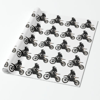 Motorcycle Motocross Wrapping Paper