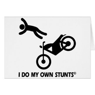 Motorcycle My Own Stunts Greeting Card