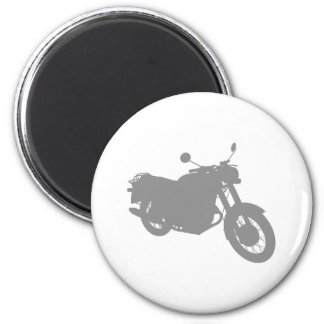 Motorcycle: Outline Profile: 6 Cm Round Magnet