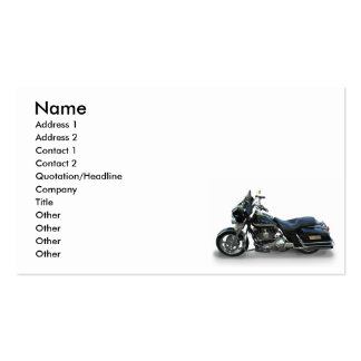 motorcycle pack of standard business cards