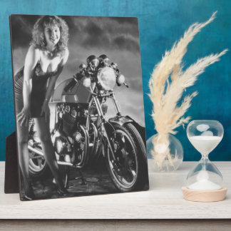 Motorcycle Pinup Girl Plaques