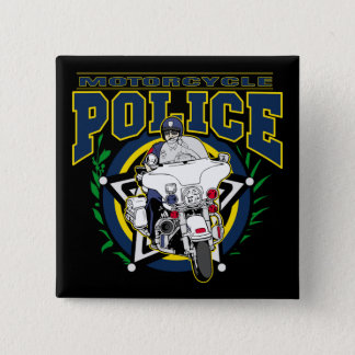 Motorcycle Police 15 Cm Square Badge