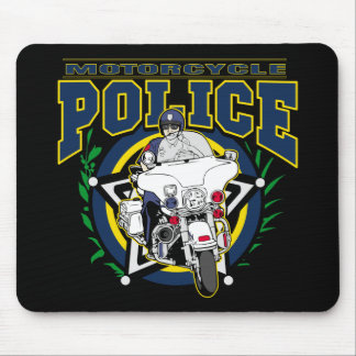Motorcycle Police Mouse Mat