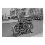 Motorcycle Police Officer, 1922 Card