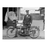 Motorcycle Police Officer, 1924 Postcard