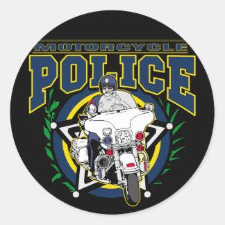 Motorcycle Police Round Sticker