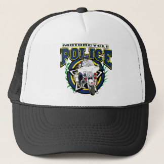 Motorcycle Police Trucker Hat