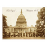 Motorcycle policemen at the US Capitol Postcard