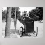 Motorcycle Postman: 1912 Poster