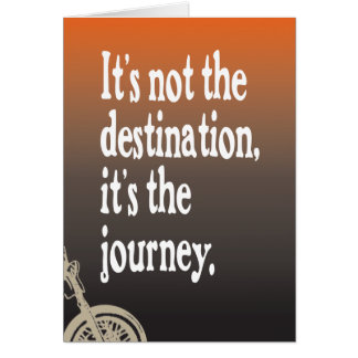 Motorcycle Quote Journey Birthday Card