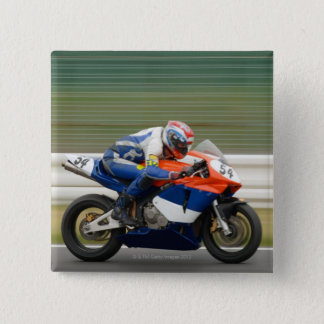 Motorcycle Race 15 Cm Square Badge