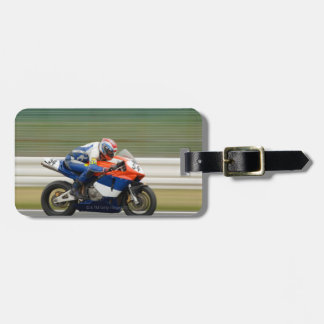 Motorcycle Race Luggage Tag