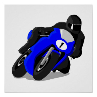 Motorcycle Racer Posters
