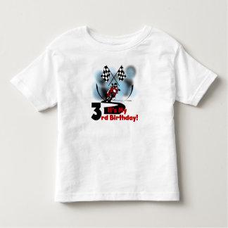 Motorcycle Racing 3rd Birthday Toddler T-Shirt