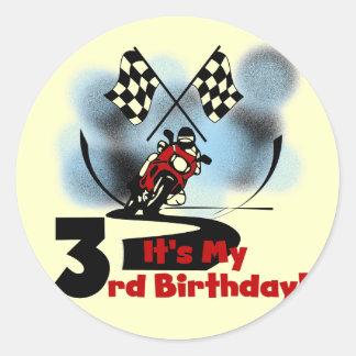 Motorcycle Racing 3rd Birthday Tshirts Stickers