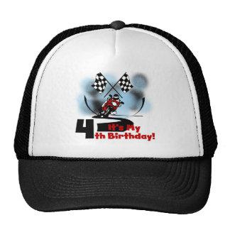 Motorcycle Racing 4th Birthday Tshirts Cap