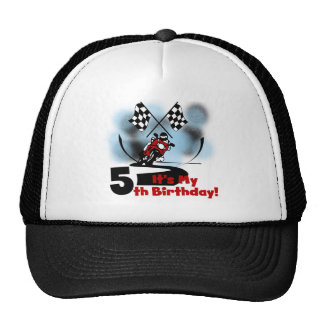 Motorcycle Racing 5th Birthday Cap