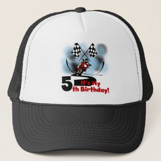 Motorcycle Racing 5th Birthday Trucker Hat