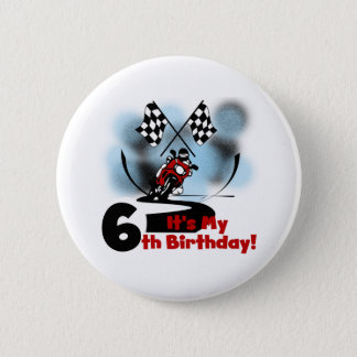 Motorcycle Racing 6th Birthday 6 Cm Round Badge
