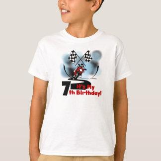 Motorcycle Racing 7th Birthday T-Shirt