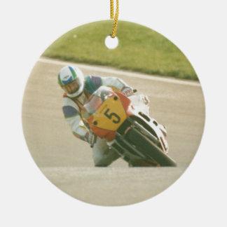 Motorcycle Racing Christmas Ornament