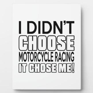 MOTORCYCLE RACING DESIGNS PLAQUE