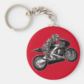 Motorcycle racing keychains