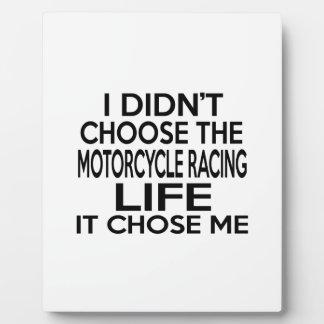 MOTORCYCLE RACING LIFE DESIGNS DISPLAY PLAQUE