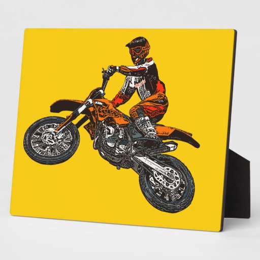 Motorcycle racing plaque