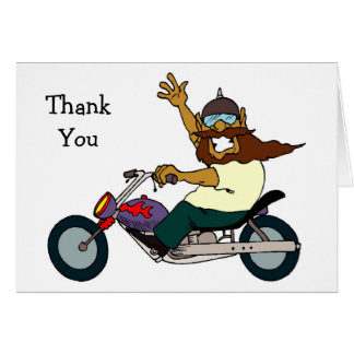 Motorcycle Ride Thank You Cards