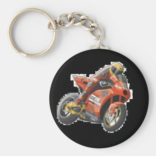 Motorcycle Rider - Key Chain