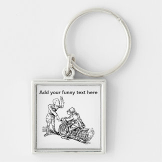 Motorcycle Rider Policeman Humor Key Chain
