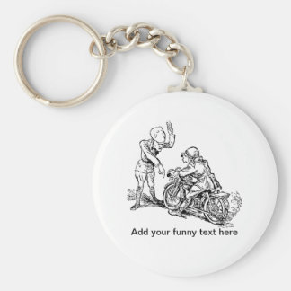 Motorcycle Rider Policeman Humor Keychain