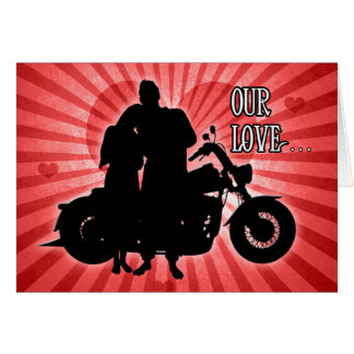 Motorcycle Rider | Valentine's Day Greeting Card