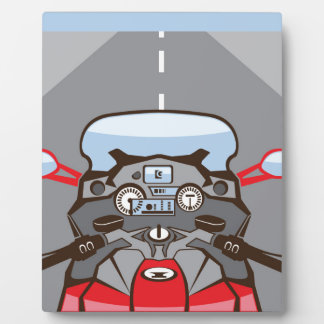Motorcycle Riders View Color Road ahead Photo Plaques