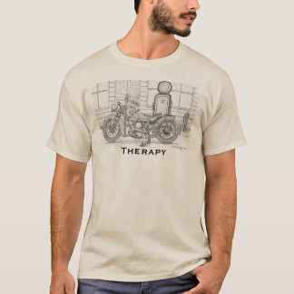 Motorcycle: Riding is Therapy T-Shirt